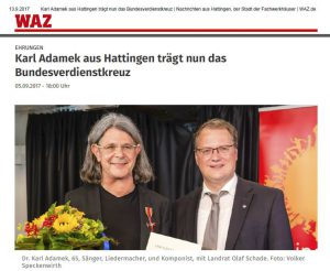 Heilsames Singen - Karl Adamek Verleihung des Bundesverdienstkreuzes